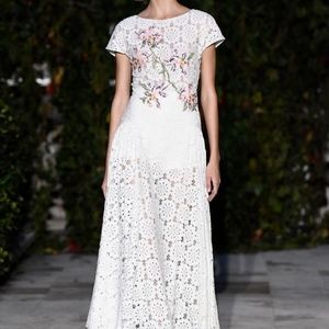 Pascal Millet Embroidered Paillette Lace Dress